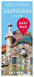 Map Barcelona Easy Map