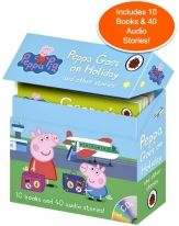 Peppa Goes on Holiday and Other Stories (10 books and 4 Audio CDs)