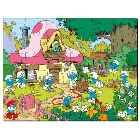 SMURF DECO PUZZLE GIRL