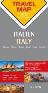 Map Italien Travel Map