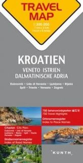 Map Kroatien, Veneto, Istrien Travel Map