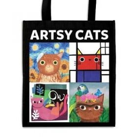 Торба Artsy Cats Reusable Shopping Bag