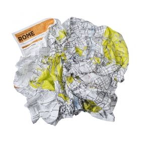 CRUMPLED CITY MAP ROME
