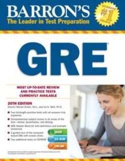 Barron's GRE 20th ed. + CD-ROM+Online