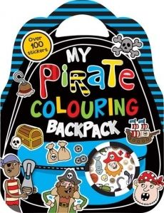 My Pirate Colouring Backpack Over 100 Stickers