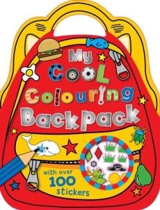 My Cool Colouring Backpack Over 100 Stickers